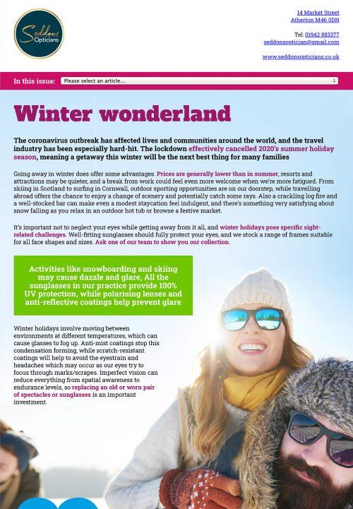 Seddons Opticians Newsletter Autumn 2020